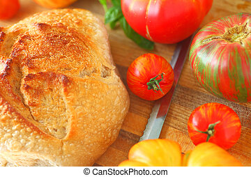 Bread and summer tomatoes