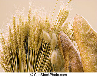 Bread and wheat ear and special lighting conditions