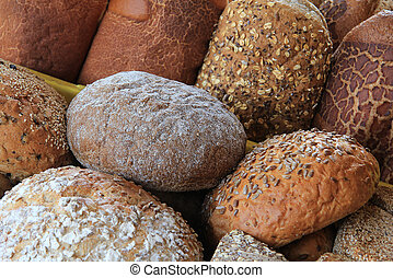 Bread - Assortment of bread loaves.