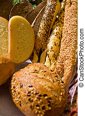 bread backet - woven backet with wide assorment of bread