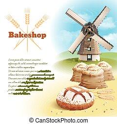 Bread Background Illustration