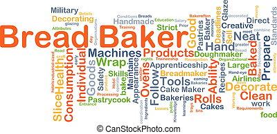 Bread baker background concept