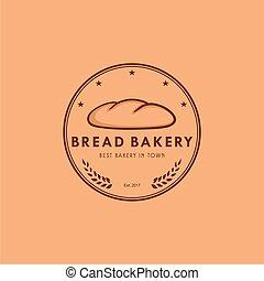 Bread Bakery Logo Vintage Design Vector Illustration Icon
