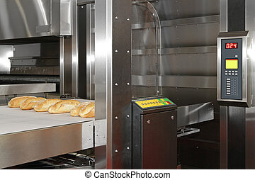 Bread bakery oven - Commercial bread baking oven with...