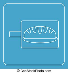 Bread baking icon outline