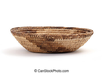 bread basket on a white background