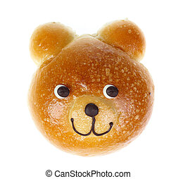 Bread Bear isolate on white