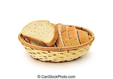 bread box isolated on a white