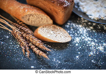 Bread composition with wheats