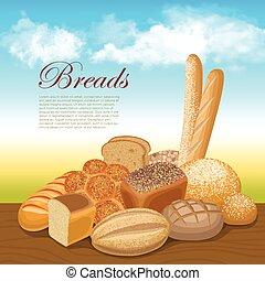 Bread concept background