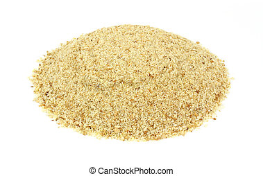 Bread crumbs - A large amount of seasoned bread crumbs on a...