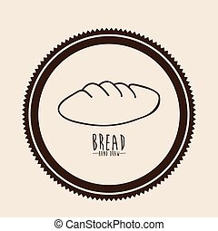 Bread design over beige background vector illustration