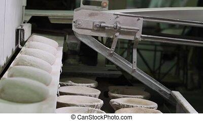 Bread dough making.