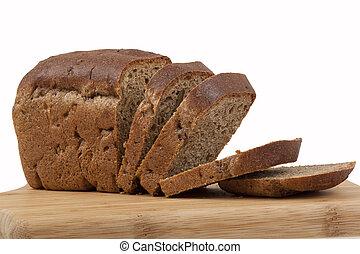 bread, en, cocina, tabla