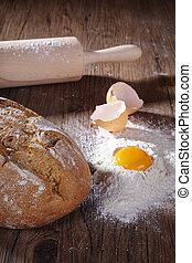 bread flour and egg