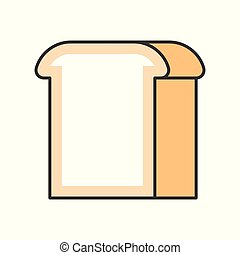 bread, food and gastronomy set, filled outline icon