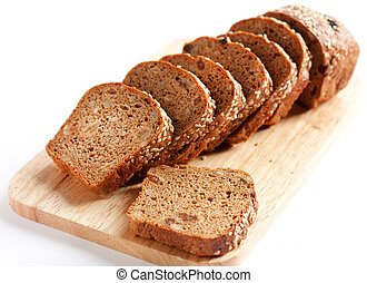 Bread from wheat flour, whole grain bread
