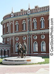 Tsaritsyno - palace and park ensemble in the south of Moscow; founded by order of Empress Catherine