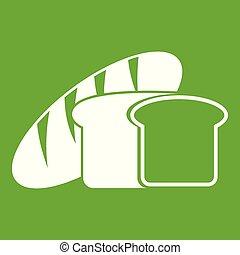 Bread icon green