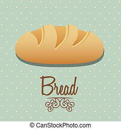 bread icon - Illustration of classic bread, bakery icon,...