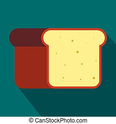 Bread icon in flat style