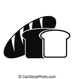 Bread icon, simple style