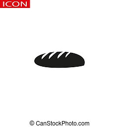 Bread icon Vector Illustration on the white background.