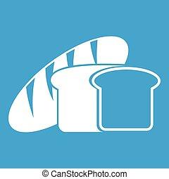 Bread icon white