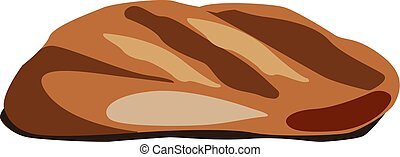 Bread, illustration, vector on white background.