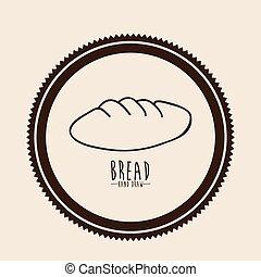 Bread design over beige background vector illustration