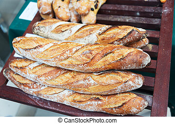 Bread in market place with soft light