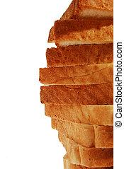 bread in slices closeup