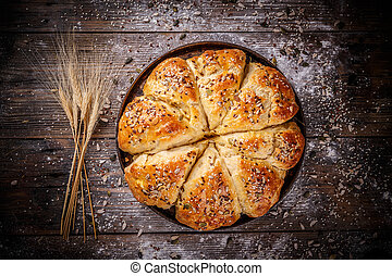 Bread in the form of a flower