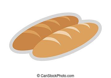 bread, intero, icona