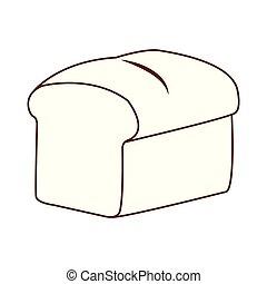 bread, isolato, icona