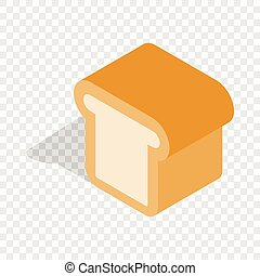 Bread isometric icon
