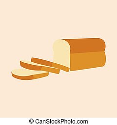 Bread loaf and Sliced