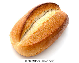 Baked bread loaf food for healthy eating isolated
