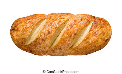 Bread Loaf isolated on white with a clipping path