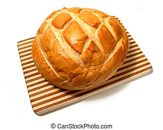 Bread loaf - Loaf of sourdough bread on cutting board ...