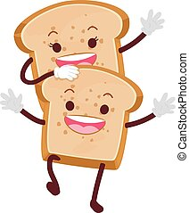 Bread Loaf Mascot