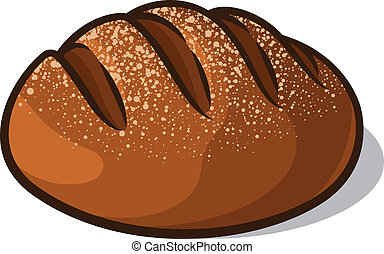 Bread - Loaf of bread isolated on a white background