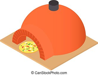 Bread maker icon, isometric style
