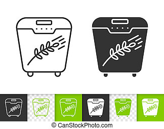 Bread Maker simple black line vector icon