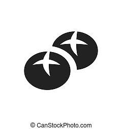 bread monochrome bakery icon design vector
