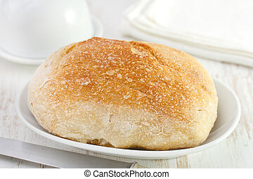 bread on white dish
