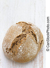 bread on white wooden background