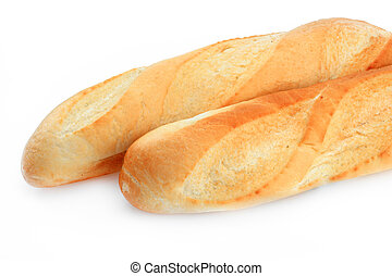 Bread - White bread on a white background