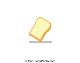 Bread plate on white background