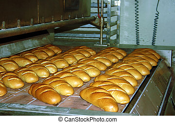 Bread production 4 - Bread production in a factory in ...
